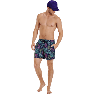 Men Classic Embroidered - Men Swim Trunks Embroidered Jungle - Limited Edition, Midnight blue supp2