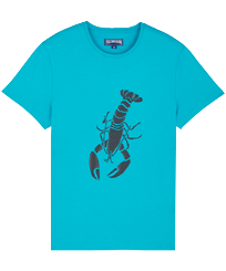 Men Others Printed - Men Cotton T-Shirt Lobster 3D effect, Light azure front