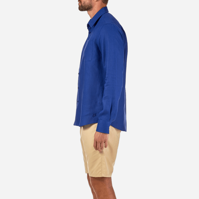 Vilebrequin - Men Linen Shirt Solid - 7