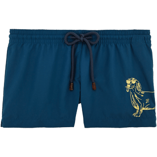 Women Shorties Embroidered - Sunny Dog Embroidered Shorty, Spray front