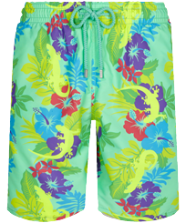Men Long classic Printed - Men Long Swim Trunks Les Geckos, Cardamom front
