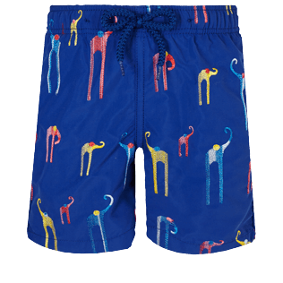 Boys Others Embroidered - Boys Swimwear Embroidered Giaco Elephant, Batik blue front