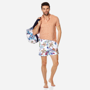 Homme CLASSIQUE STRETCH Imprimé - Maillot de Bain Homme Stretch Watercolor Turtles, Blanc supp2