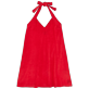 Women Others Solid - Women Terry cloth Halter Dress Solid, Red polish front