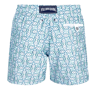 Men Embroidered Embroidered - Men Swim Trunks Embroidered Data Turtles - Limited Edition, Aloe back
