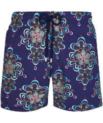 Men Classic Embroidered - Men Swimwear Embroidered Kaleidoscope - Limited Edition, Sapphire front