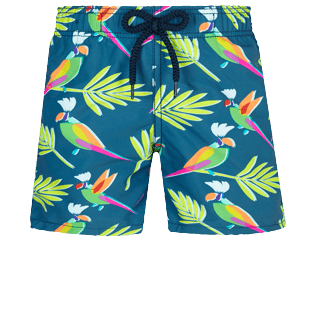 Boys Others Printed - Boys Swim Trunks Multicolore Parrots, Goa front