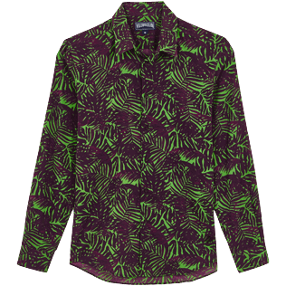 Others Printed - Unisex Cotton Voile Light Shirt Madrague, Grass green front