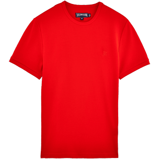 Men Tee-Shirts Solid - Cotton Piqué Solid Tee-Shirt, Poppy red front