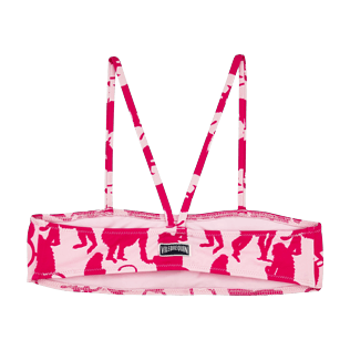 Niñas Autros Estampado - Top de bikini con estampado Happy Monkeys para niña, Peony back