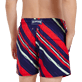 Hombre Clásico stretch Estampado - Men Swimwear Stretch Diagonal Stripes, Ciruela supp1
