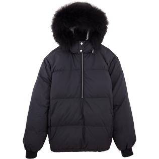 Men Vests AND Jackets Printed - Ski Resort Quilted down jacket, Navy front
