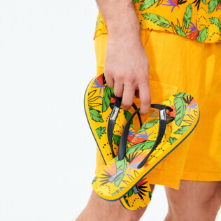 Men Others Printed - Men Flip Flops Go Bananas, Curry supp2