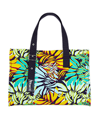 Others Printed - Large Beach Bag Jungle, Midnight blue front