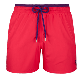 Men Ultra-light classique Solid - Men Ultra-Light and packable swimtrunks Solid Bicolor, Gooseberry red front