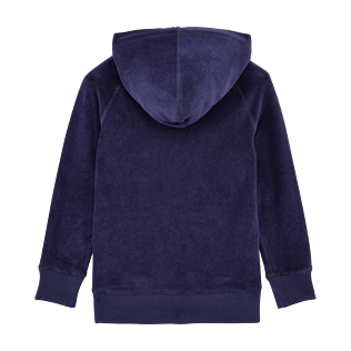 Boys Others Solid - Boys Terry Cloth Hoodie Solid, Navy back