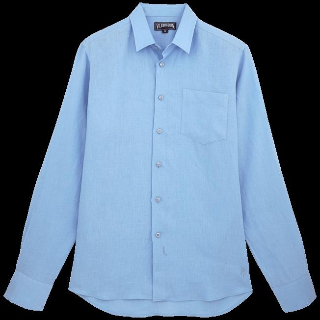 Vilebrequin - Camisa de lino liso para hombre - 1