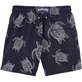 Men Classic / Moorea Printed - Galuchat Turtle Swim shorts, Navy back