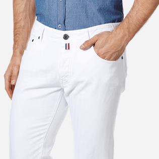Men Others Solid - Men White 5-Pocket Jeans Regular Fit, White supp1