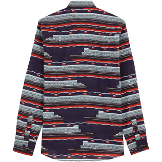 Others Printed - Unisex Cotton Voile Light Shirt VBQ Cruise Lines, Midnight blue back