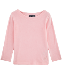 Girls Others Solid - Solid Terry Sailor Top, Peony front