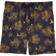 Men Classic / Moorea Printed - Prehistoric Fish Lightweight Packable Swim shorts, Navy front