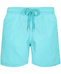 Men Classic Solid - Men Swimwear Solid, Lazulii blue front