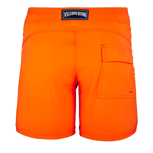 Men Flat belts Solid - Men Flat Belt Stretch swimtrunks Solid, Kumquat back