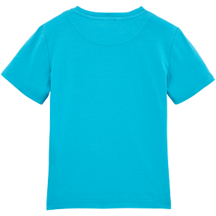 Boys Tee-Shirts Printed - Glow in the dark Starlettes Round neck Tee Shirt, Azure back