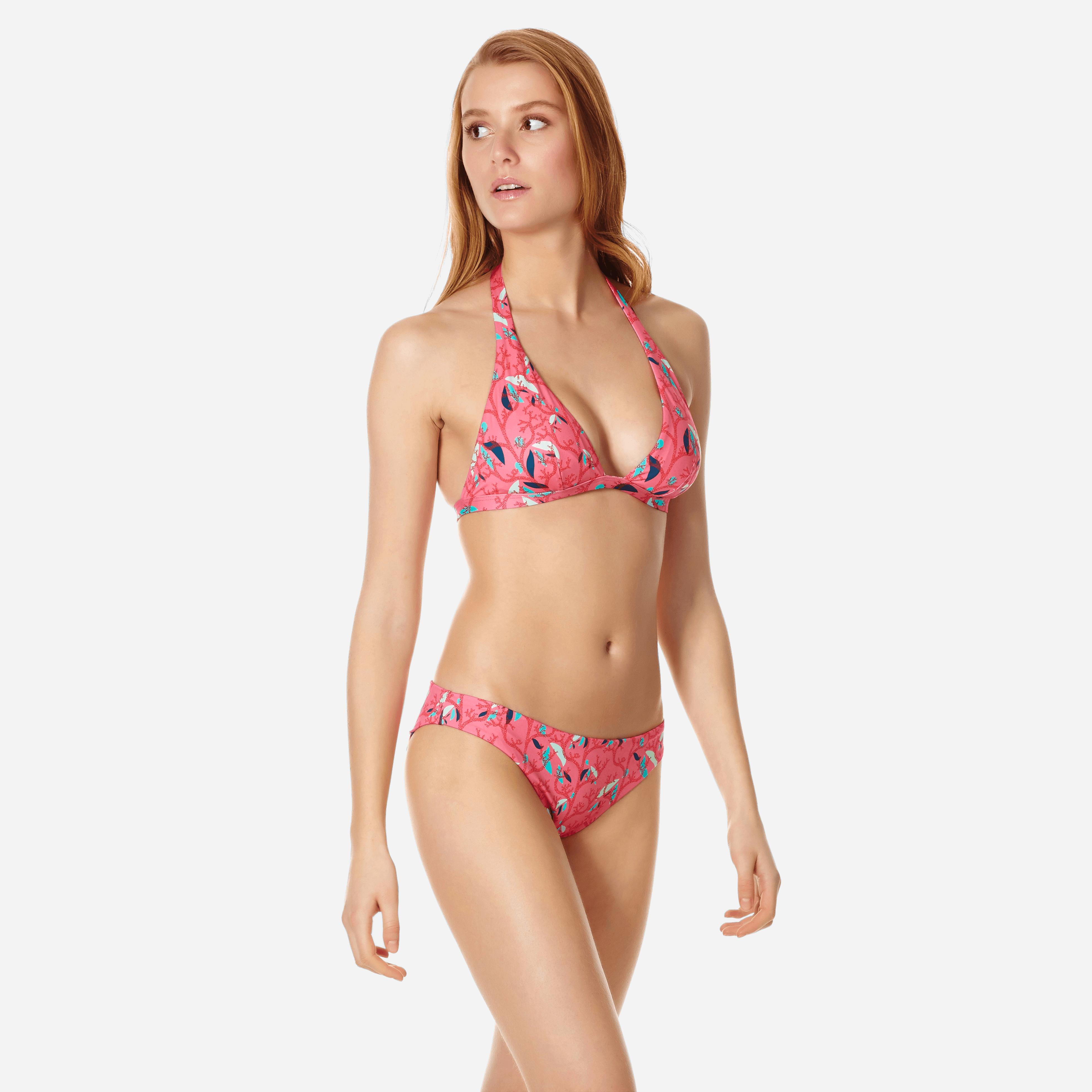 Vilebrequin Women Bikini Halter Top Turtles Song In Pink
