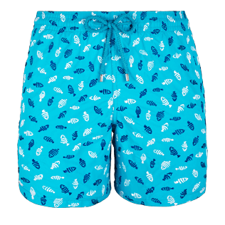 Men Embroidered Embroidered - Men Swimtrunks Embroidered Mini Fish - Limited Edition, Curacao front