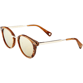Others Solid - Unisex Sunglasses Bronze Mirror, Hazelnut back
