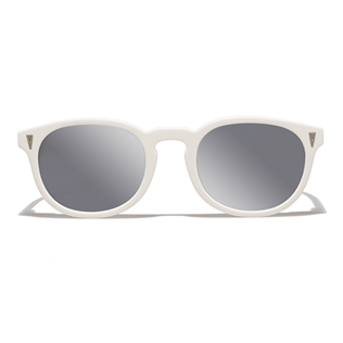 Others Solid - Unisex Sunglasses Bond White, White front