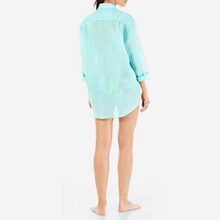 Others Solid - Unisex Linen Voile Shirt Solid, Lagoon supp5