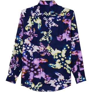 Donna Altri Stampato - Camicia donna in velo di cotone Watercolor Turtles, Blu marine back