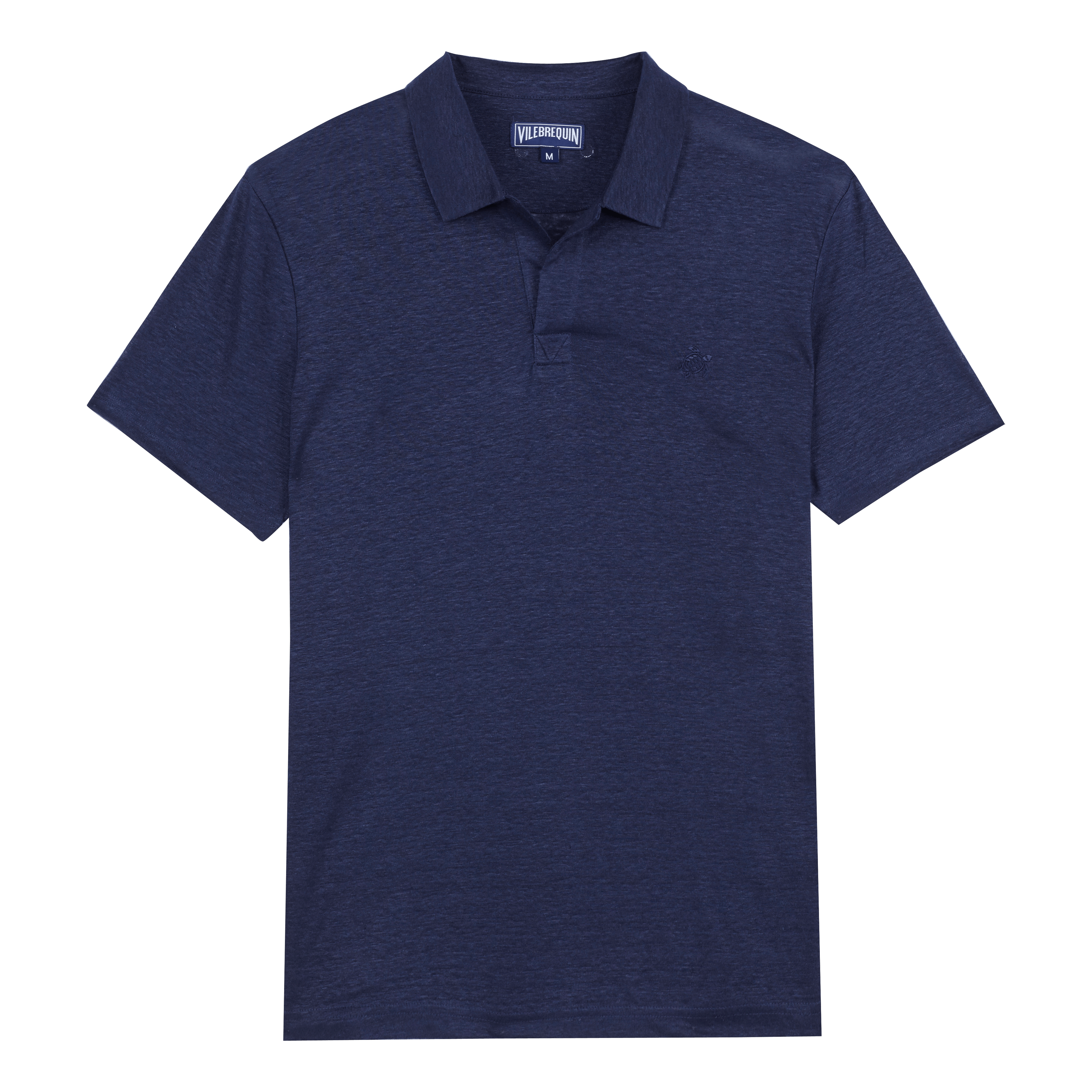 VILEBREQUIN Men Ready To Wear - Men Linen Jersey Polo Shirt Solid - Polo - Pyramid in Blue