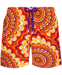 Men Classic Printed - Men Swimwear 1975 Rosaces, Apricot front