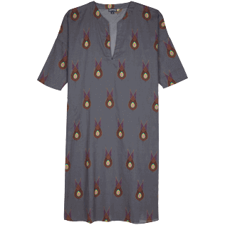 Women Others Printed - Women Cotton Long Cover-up Paon Paon, Navy front
