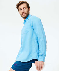Men Blue Charming Look,  front