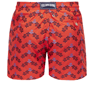 Men 017 Embroidered - Men Swimwear Embroidered - Limited Edition, Poppy red back