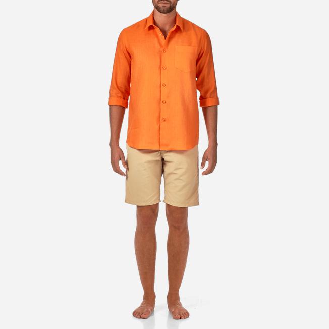 Vilebrequin - Camisa de lino liso para hombre - 3