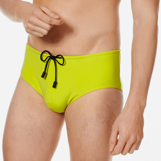 Men Swim brief and Boxer Solid - Men Fitted Swim Brief Solid, Chartreuse supp1