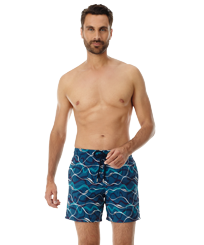 Men 017 Embroidered - Men Embroidered Swimwear Ostend - Limited Edition, Spray frontworn