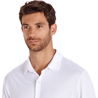 Men Others Solid - Jersey Tencel Men Shirt Solid, White supp1