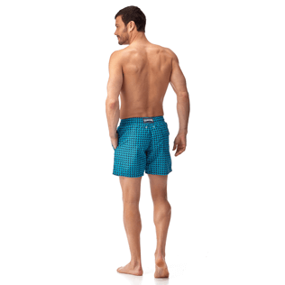 Men Classic / Moorea Printed - Baby Trop' Swim shorts, Azure backworn