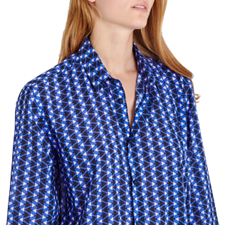 Others Printed - Unisex Cotton Voile Light Shirt Re Mi Fa Soles, Royal blue supp3