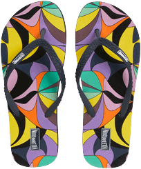 Women Others Printed - Women Flip Flops 1984 Invisible Fish, Black front