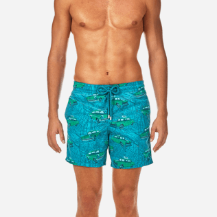 Men Classic / Moorea Printed - Dip Dye Taxis Swim shorts, Prussian blue supp1