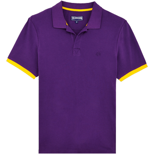 Men Others Solid - Men Cotton Pique Polo Shirt Solid, Reddish purple front
