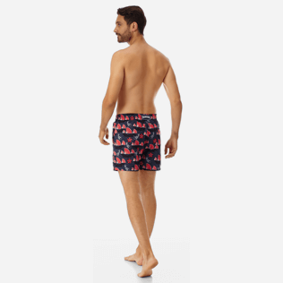 Men Ultra-light classique Printed - Men Ultra-Light and packable Swimwear Hong Kong, Navy backworn